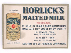 Original Horlicks Malted Milk Advertisement