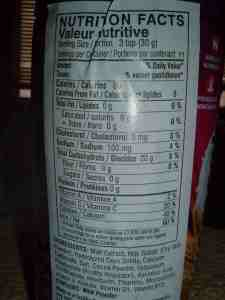 US FDA RDA Nutritional Information - Womens Horlicks