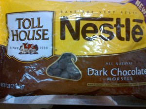 Nestle's Tollhouse Dark Chocolate Morsels (chips)
