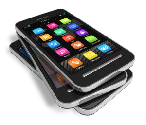 Set of touchscreen smartphones
