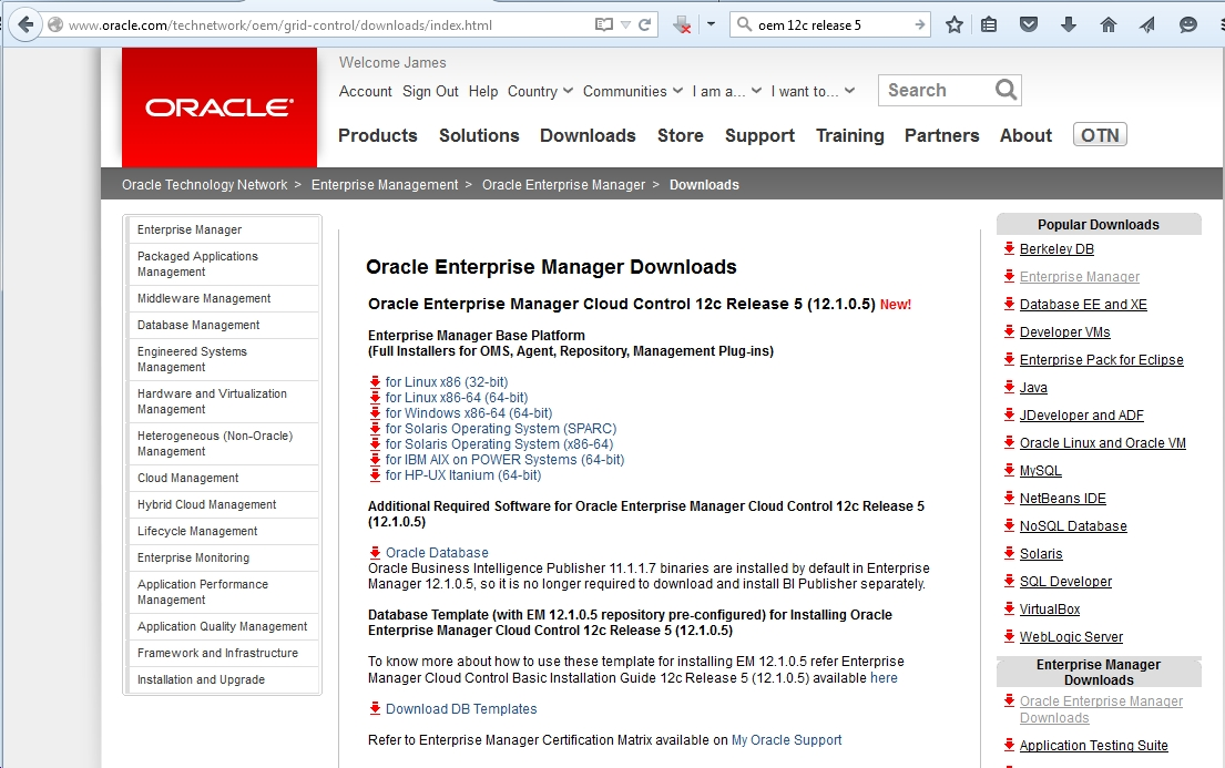 What's New Features in Oracle Enterprise Manager (OEM) Cloud Control