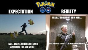 Pokemon Go meme - Expectation vs. Reality
