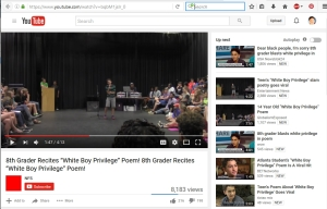 "[YouTube] 8th Grader Recites ""White Boy Privilege"" Poem! 8th Grader Recites ""White Boy Privilege"" Poem!"